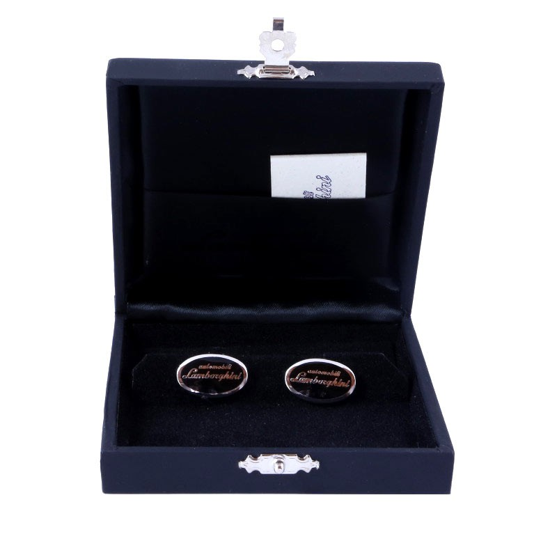 lamborghini manschettenkn pfe enamel cufflinks schwarz. Black Bedroom Furniture Sets. Home Design Ideas